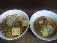 「【限定】 カレー油味噌つけ麺(仮):800円」@蓮爾 さんこま店の写真