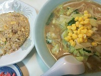 「Bセット(味噌ラーメン+半チャーハン)¥700」@風雷の写真