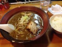 「焦がし黒味噌ラーメン750円」@水戸家らーめん 元祖六本木の写真
