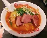 「燻製合鴨と根菜のアラビアータトマト麺\880」@太陽のトマト麺 吾妻橋支店の写真