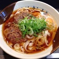 「牛肉きしめん(¥600)」@名代きしめん 住よし JR名古屋駅・新幹線上りホーム店の写真