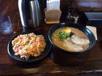 「半焼き飯セット 750円」@まんてんの写真