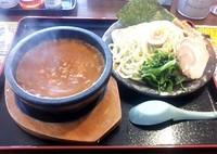 「スパイシーホットつけ麺 @882円(限定)」@札幌海老麺舎 手稲店の写真