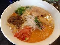 「【2月限定】豆乳とトマトを使った肉みそ麺(800円)」@麺処 ほん田 nijiの写真