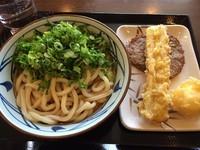 「ぶっかけ大+じゃこ天+ちくわ天+半熟たまご天(計710)」@丸亀製麺 大和店の写真