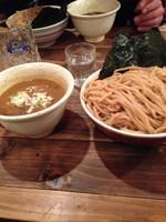 「濃厚豚骨醤油つけ麺 大盛り」@吉田製麺店の写真