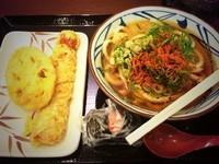 「かけうどん【280円】その他諸々」@丸亀製麺 天王洲アイル店の写真