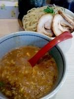 「限定 濃厚煮干しつけ麺780円大盛あつもり+半肉増し150円」@麺場 風天の写真