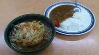 「満腹セット(天ぷらそば+カレーライス)」@かしわや 武蔵小杉店の写真