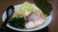 「ラーメン大盛+野菜」@横浜家系濃厚とんこつラーメン 竹取家の写真