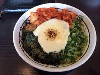 「キムチーズまぜそば」@濃厚担々麺 はなび 蟹江店の写真
