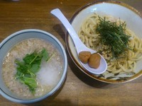 「【今月の限定つけ麺】梅みぞれつけ麺 ¥880」@ラーメンアキラの写真