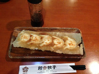 「手作り焼き餃子(5個)+野菜刀削麺」@元祖中華 和合餃子の写真