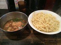 「牛ホルつけ麺820円+卵一個無料」@つけ麺・ラーメン カガミハラ55の写真