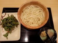 「釜揚げうどん+春菊と小エビのかきあげ410円」@丸亀製麺 イーサイト高崎店の写真