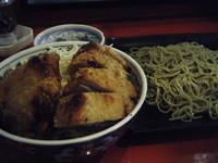 「定食(カツ丼&つけ麺)500円」@めんけんの写真