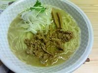 「牛骨ラーメン(750円)大盛無料券」@麺榮 王様のラーメンの写真