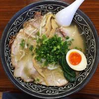「手打ち潮そば+炭火焼き焼豚」@手打ち中華そば 味楽の写真