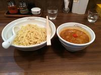 「辛つけ麺 中盛950円+ランチ帯ごはん無料」@らーめん Nageyariの写真