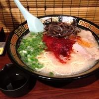「ラーメン+替玉+きくらげ+オスカランの酸味(¥1,180)」@一蘭 名古屋栄店の写真