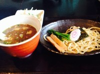 「元気肉つけそば¥800−半盛値引¥100」@俊麺元気の写真