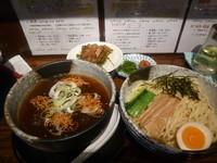 「漣(ミニちょい肉高菜ご飯付き)」@めん処 藤堂 三島店の写真