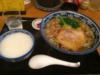「らーめん、中華粥(小)セット」@麺・粥 けんけんの写真