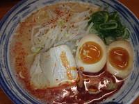 「赤カラらーめん(690円)ごはん(100円)味玉(クーポン)」@麺屋 一の写真