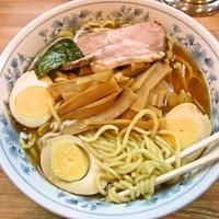 「メンマラーメン(中盛)+煮玉子=800円+80円=880円」@麺屋ごとうの写真