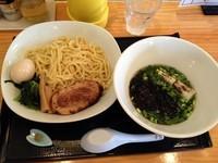 「清湯つけ麺(750円)ブログ読者限定」@朝日屋の写真