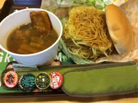 「大勝軒 元祖つけ麺バーガー(特盛)」@ロッテリア JR鶴橋駅店の写真