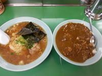 「Cセット(醤油ラーメン+カレーライス)750円」@ラーメンショップ 藤岡店の写真