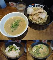 「『濃厚鶏つけ麺+ゆず香る〆ごはん(¥800+100)』」@町田汁場 しおらーめん 進化の写真