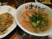 「中華そば(ミニ)¥450+焼飯(並)¥450」@ますたに 京都駅ビル拉麺小路店の写真