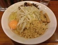 「鶏白湯まぜそば(全卵) \770」@七麺鳥の写真