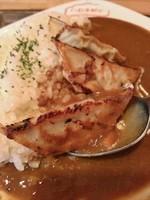 「餃子カレー \600」@いわま餃子~EXOTIC DINING~の写真