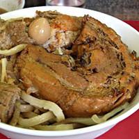 「たま小つけ麺豚入り+巻ちゃぁ(炙り)」@蓮爾 登戸店の写真