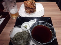 「〖夜限定〗よもぎそば300円他」@そば 俺のだし GINZA5の写真