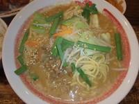 「濃厚味噌太麺(819円)(冬季限定)、白めし唐揚げセット」@新・和歌山ラーメンばり馬 深川店の写真