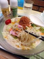 「冷やしちゃんぽん699円+麺2倍100円」@長崎ちゃんぽん リンガーハット 上野御徒町店の写真