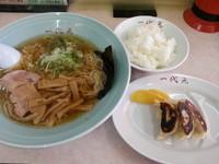 「Aランチ(ラーメン+餃子+ライス)799円」@ラーメン&らーめん 一代元 上里店の写真