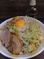「小 汁なし」@ラーメン二郎 横浜関内店の写真