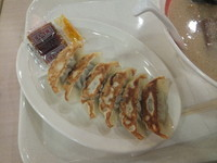 「ギョーザ216円(クーポンで無料)&こってりチャーシュー麺」@幸楽苑 モラージュ柏店の写真