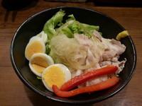 「冷しラーメン(並盛・150g)750円」@八番山ばりきや 安中店の写真