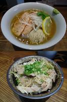 「夏季限定『鮭だしとサーモンの冷や塩らーめん(¥880)』」@町田汁場 しおらーめん 進化の写真