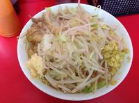「小豚ラーメン(麺半分)+しょうが(現金)」@ラーメン二郎 仙台店の写真