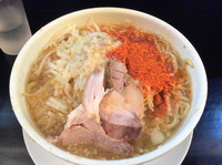 「ラーメン カラメ+脂+唐辛子マシマシ」@麺や 希 御徒町店の写真