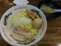 「油そば(塩味) 大  +味玉:サービスクーポン ※スープ付き」@らあめん 塩八の写真