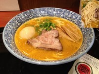 「サクマ式ベジポタラーメン+半熟煮玉子」@麺屋 一燈 ラゾーナ川崎店の写真