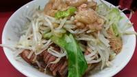 「汁なしラーメン 豚ダブル ヤサイアブラカラメ魚粉」@ラーメン二郎 環七一之江店の写真